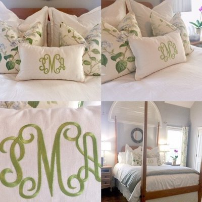 Custom pillows and bedding by Southern Shades