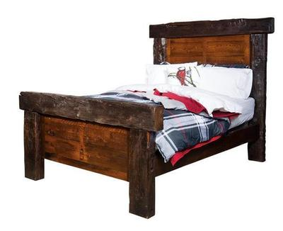 Amish Reclaimed Barn Beam Bed