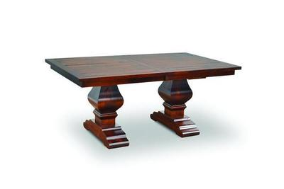 Amish Wilmington Plank Trestle Table with Breadboard Ends