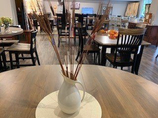 DIY Table Centerpiece Color Wrapped Wheat