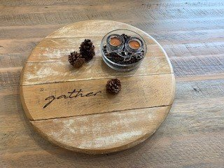 DIY Table Centerpiece with Coffee Beans and Candles