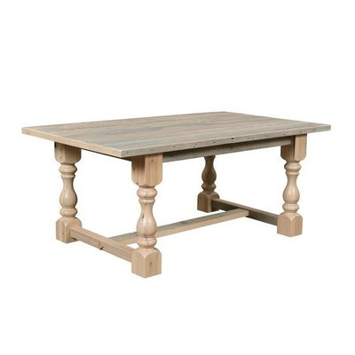Reclaimed Barn Wood Midland Solid Top Dining Table