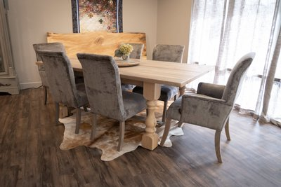Reclaimed Barn Wood Midland Solid Top Dining Table in the DutchCrafters Store