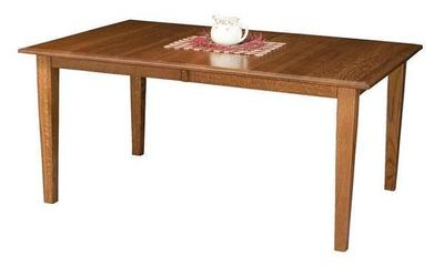 Amish Bridgeport Mission Leg Table