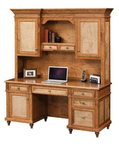 Amish Bridgeport Credenza Desk with Optional Hutch