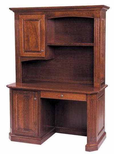 Amish Buckingham Single Pedestal Desk with Optional Hutch Top