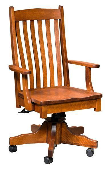 Amish Liberty Desk Chair with Gas Lift