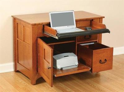 Amish Mission Laptop Credenza Desk