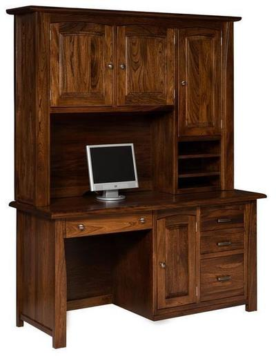Amish Mondovi Computer Desk with Optional Topper
