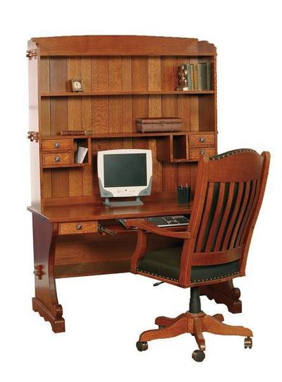 Amish Village Mission 54 Computer Desk with Optional Hutch