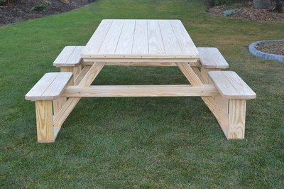 Amish 8 Pine Picnic Table