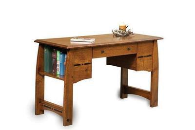 Amish Boulder Creek Writing Desk with Finished Back