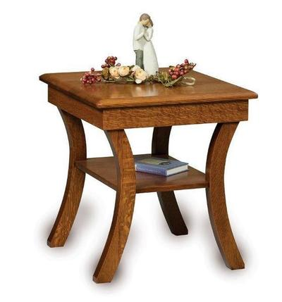 Amish Carlisle Open End Table with Shelf
