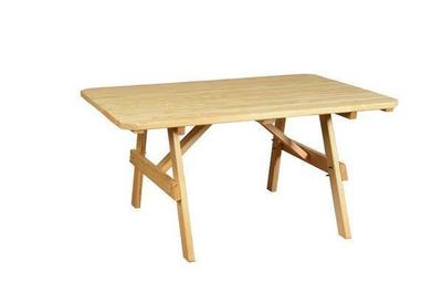 Amish Pine Wood Plain Outdoor Dining Table