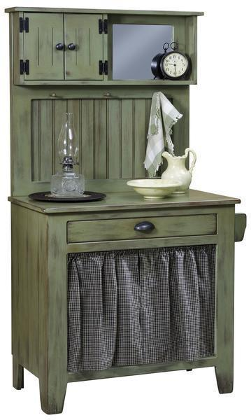 Amish Pine Wood Wash Cabinet