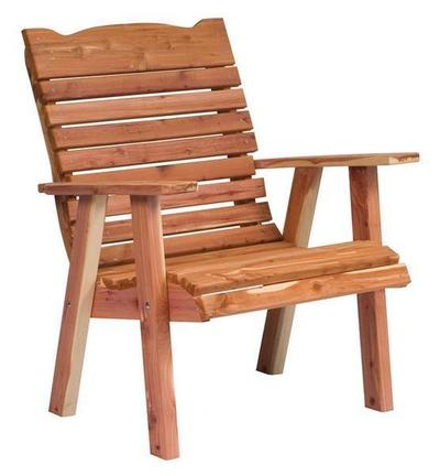 Amish Straightback Cedar Outdoor Lounge Chair