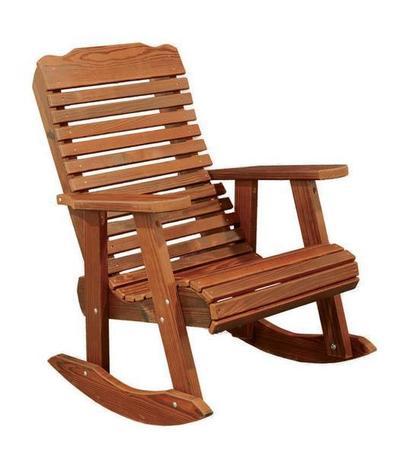 Amish Cedar Wood Contoured Rocking Chair