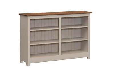 Amish Pine Wood 3 Shelf Window Bookcase