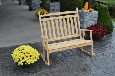 Amish Pine Wood Double Classic Porch Rocker