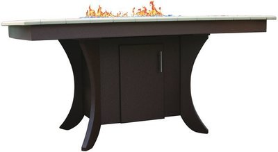 Amish Poly Outdoor Paradise Dining Table with Firepit