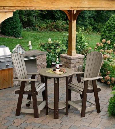 Amish Poly Pub Table Pub Chair Bistro Set