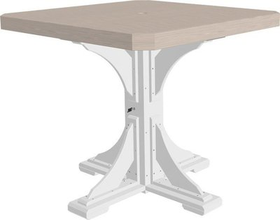 LuxCraft Poly Square Dining Table Dining Counter or Bar Height
