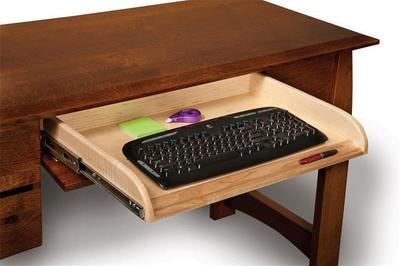 Boulder Creek Four Drawers Desk with Unfinished Backside