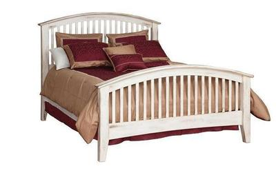 Amish Concord Arched Footboard Slat Bed