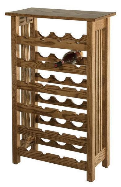 Amish Hardwood Mission Wine Rack
