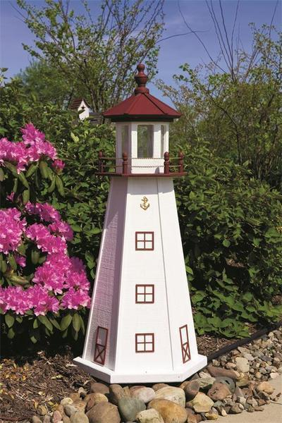 Amish Made Marblehead Wooden Garden Lighthouse