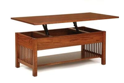 Classic Mission Rectangular Coffee Table with Lift Top