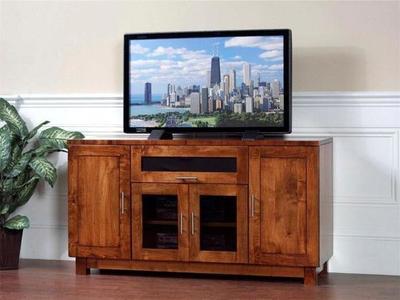 Amish HDTV Urban TV Stand with Flip Door
