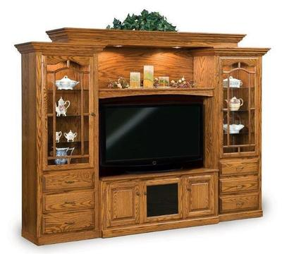 Amish Heritage 6 Piece Entertainment Center