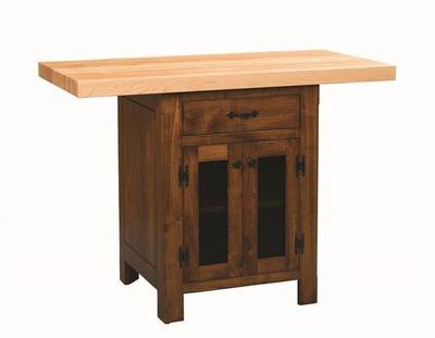 Amish Kitchen Island with Vegetable Storage