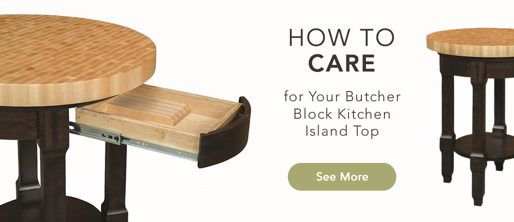 How To Care For Your Butcher Block Kitchen Island Top Timber Table