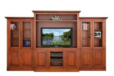 Buckingham Entertainment Center with Optional Side Bookcases