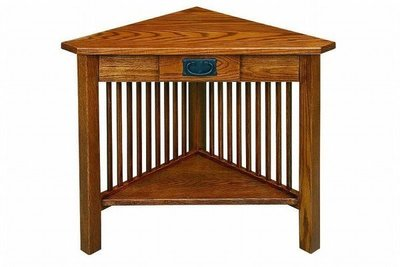 American Mission Corner Table with Drawer