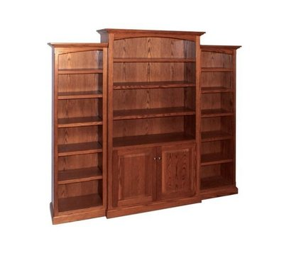 Amish 3 Unit Deluxe Traditional Bookcase