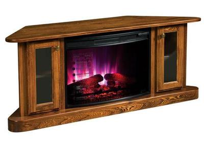 Amish Cascadia Corner Electric Fireplace