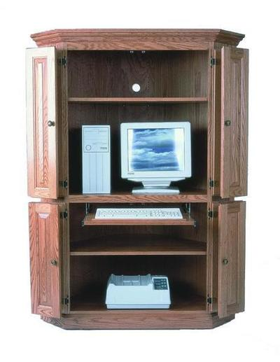 Amish Corner Computer Armoire Desk
