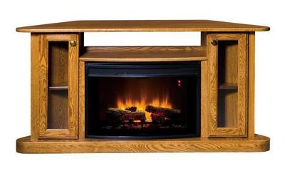 Amish Cozy Corner Glow LED Fireplace with Remote