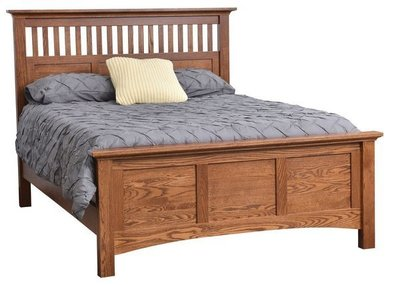 Amish Haleigh Mission Slat Bed