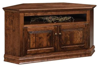 Amish Traditional Corner TV Stand