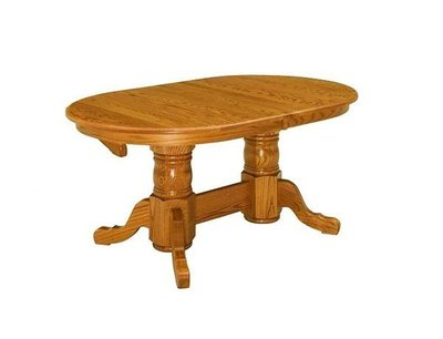 Early American Colonial Amish Pedestal Dining Table