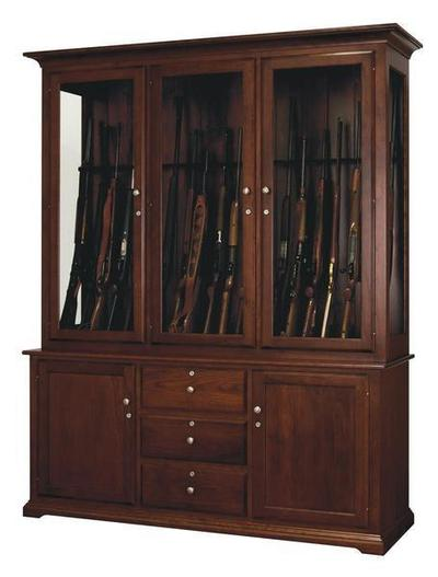 The Amish Deluxe 20 Gun Cabinet