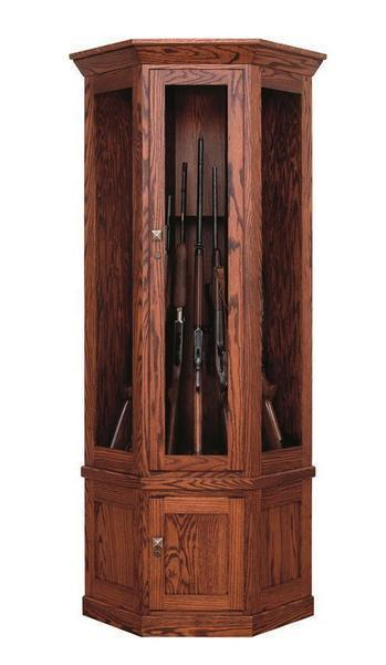 Amish Mission Corner 7 Gun Cabinet