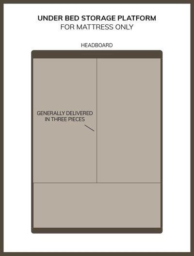Bed Foundation Storage Platform