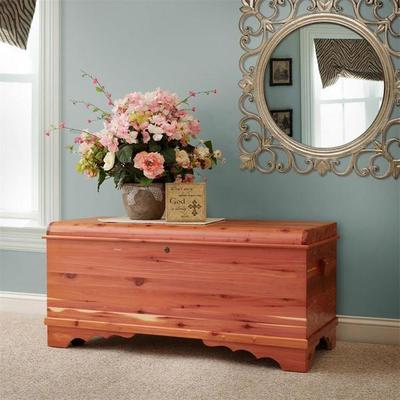 Quick Ship Large Waterfall Cedar Hope Chest