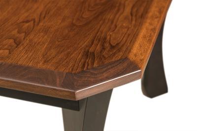 Beveled table edge