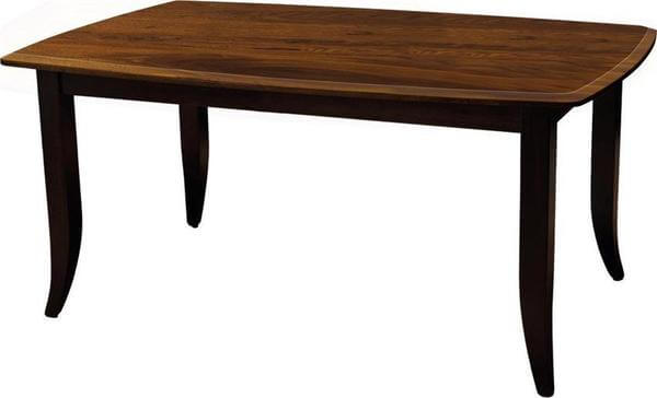 Amish Christy Dining Table with Solid Top